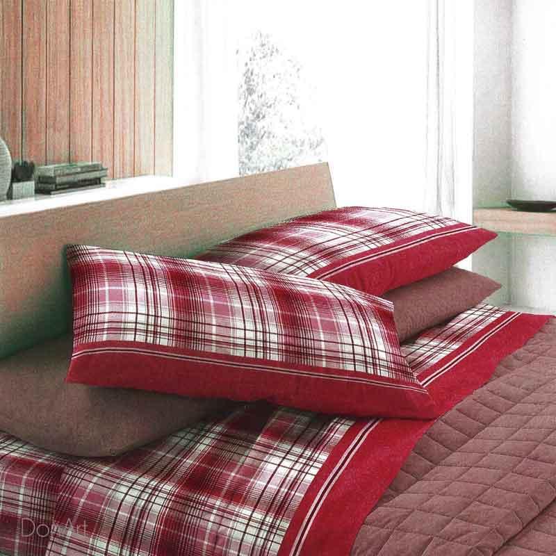 Lenzuola Una Piazza E Mezza In Flanella Co Co Maverick Rosso Cm 180 300 Biancheria48 Shop