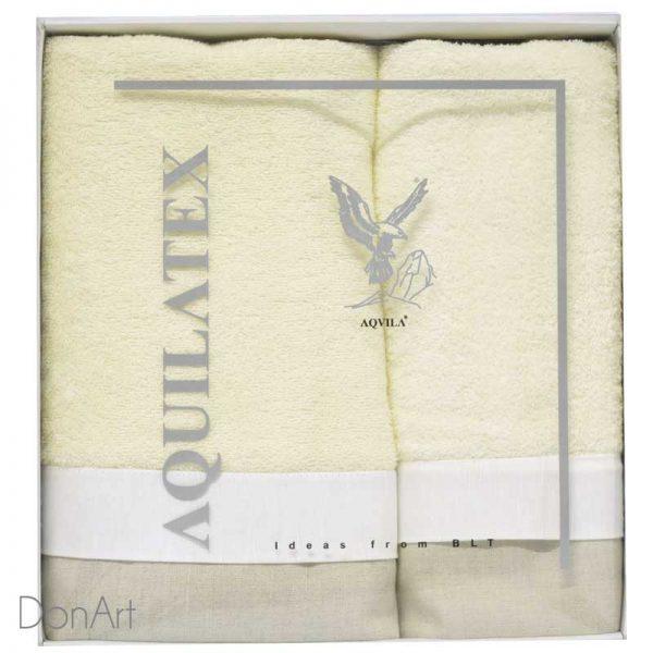 set tre asciugamani germain panna scatola