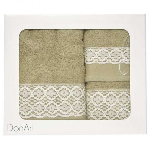 set tre asciugamani bagno sara 3 scatola