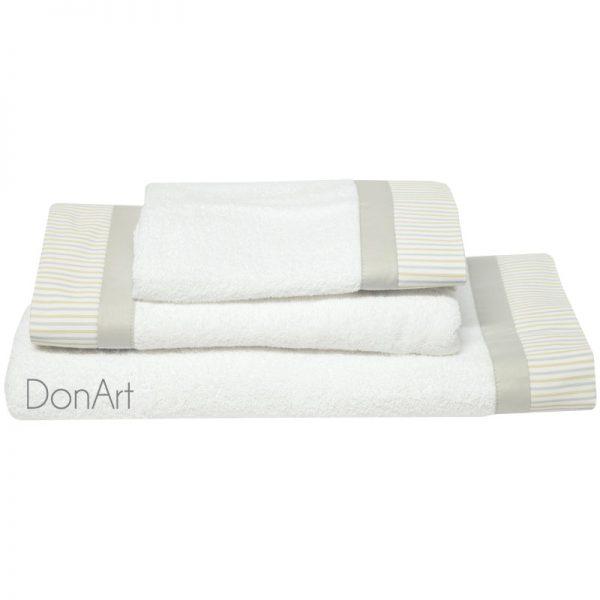 set tre asciugamani cira bianco