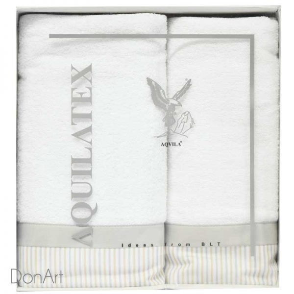 set tre asciugamani cira bianco scatola