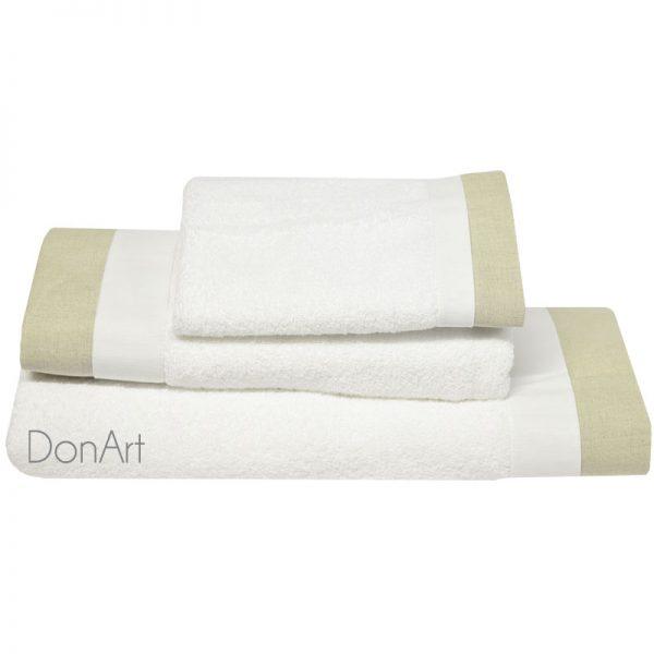 set tre pezzi asciugamani germain bianco
