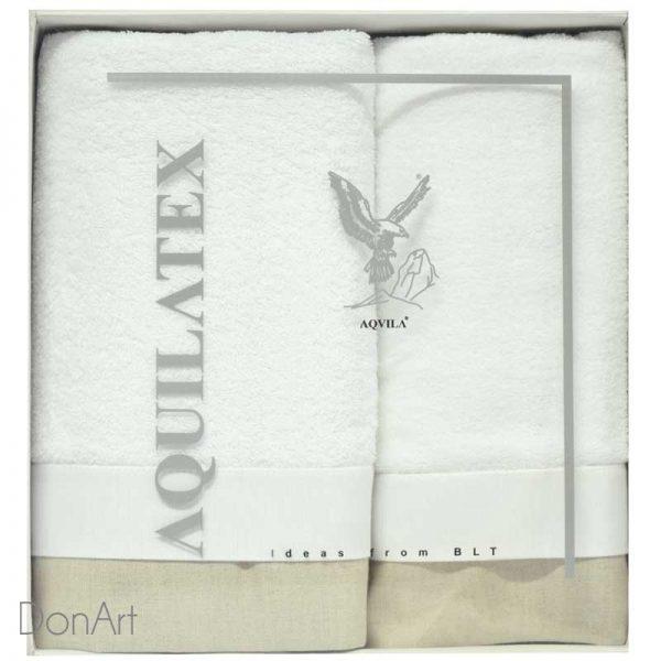 set tre pezzi asciugamani germain bianco scatola