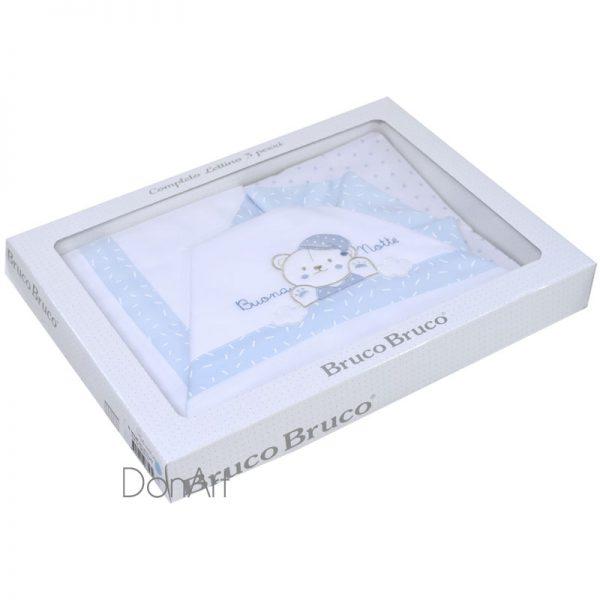 lenzuola per lettino buona notte celeste scatola