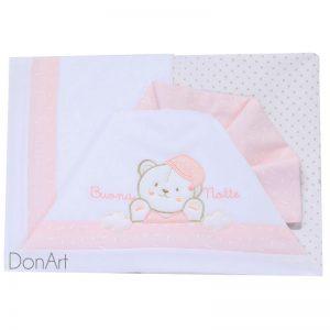 lenzuola per lettino buona notte rosa