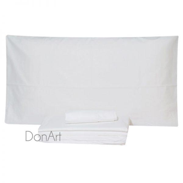 lenzuola per letto rotondo bianco
