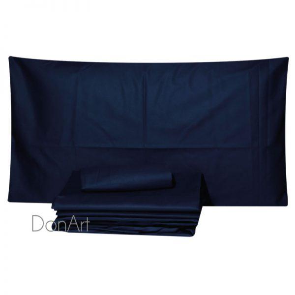 lenzuola per letto rotndo blu nottte