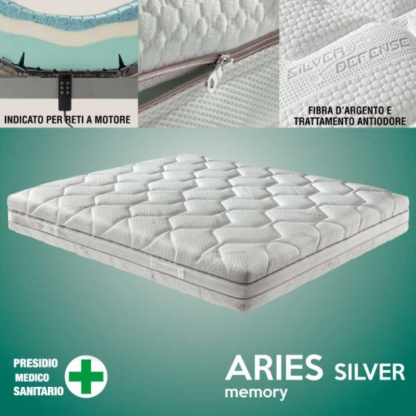 materasso memory aries silver