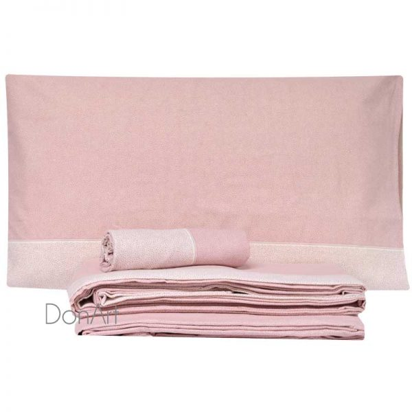lenzuola matrimoniali in flanella class rosa