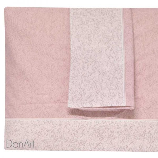 lenzuola matrimoniali in flanella class rosa federe