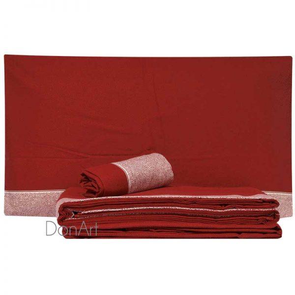 lenzuola matrimoniali in flanella class rosso