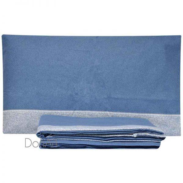 lenzuola una piazza e mezza in flanella class blu