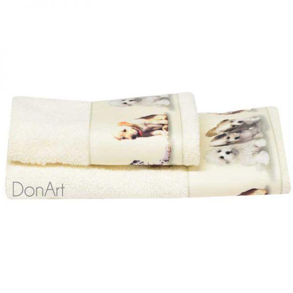 Coppia asciugamani cuccioli