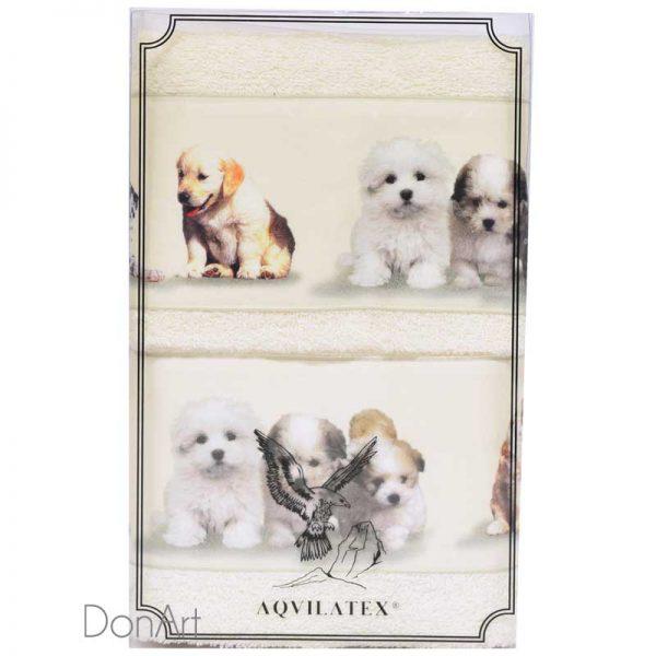 Coppia asciugamani cuccioli scatola