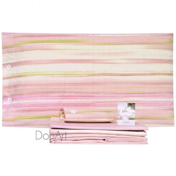 lenzuola matrimoniali fazzini voliera rosa