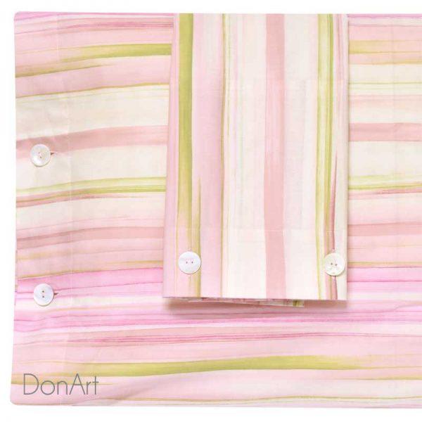 lenzuola matrimoniali fazzini voliera rosa federe