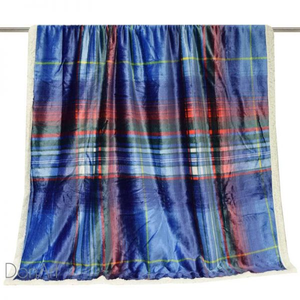 Plaid in pile scotland disteso