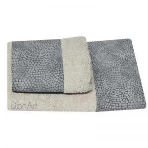 Coppia di asciugamani sassi grigio