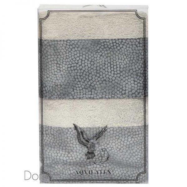 Coppia di asciugamani sassi grigio scatola