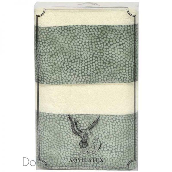 Coppia di asciugamani sassi verde scatola