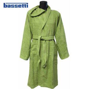 Accappatoio bassetti time colore verde germoglio