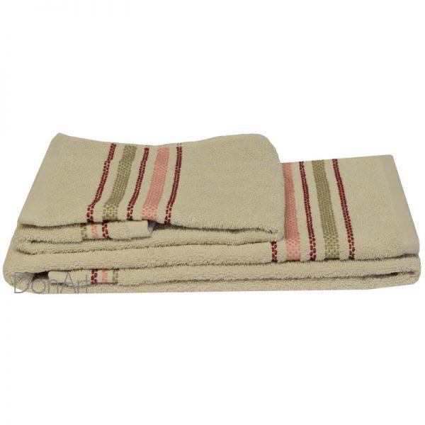 Coppia asciugamani bagno zucchi railway ecru