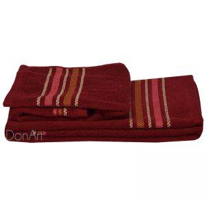 Coppia asciugamani bagno zucchi railway rosso