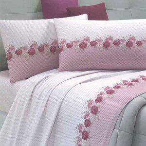Lenzuola matrimoniali alessia rosa ambientato