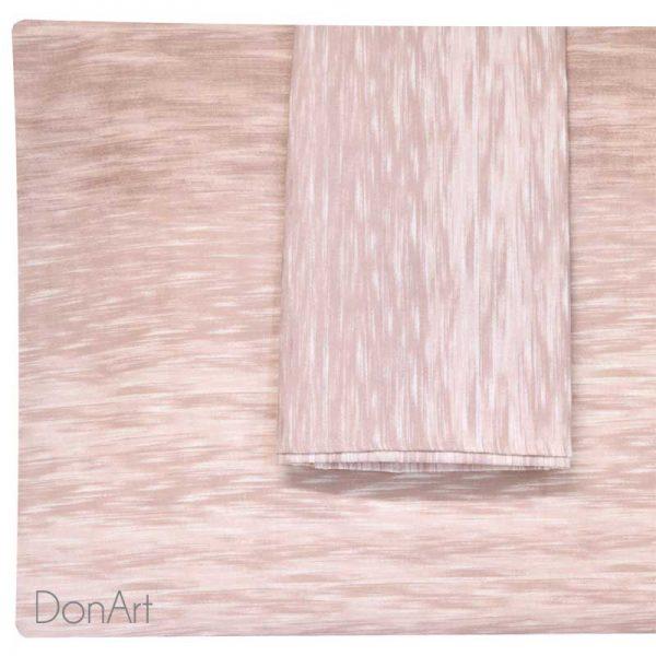 Lenzuola matrimoniali in flanella acqua rosa federe
