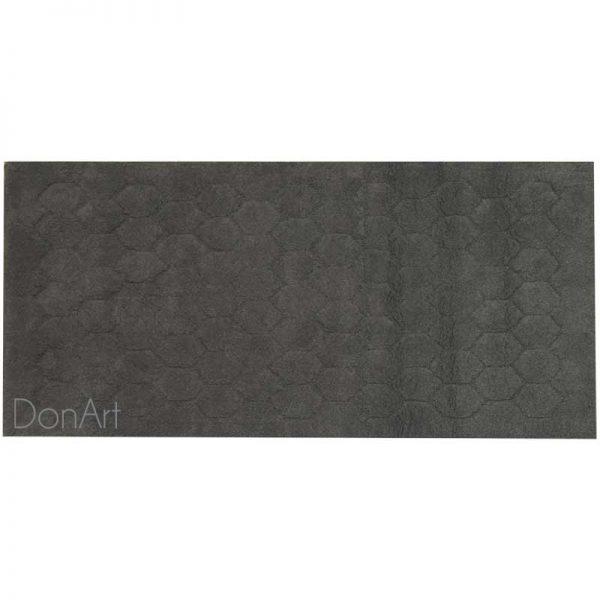 Tappeto per il bagno esagoni grigio