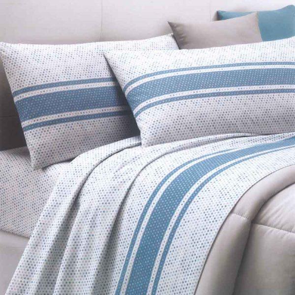 Lenzuola singole dreams funny azzurro ambientato