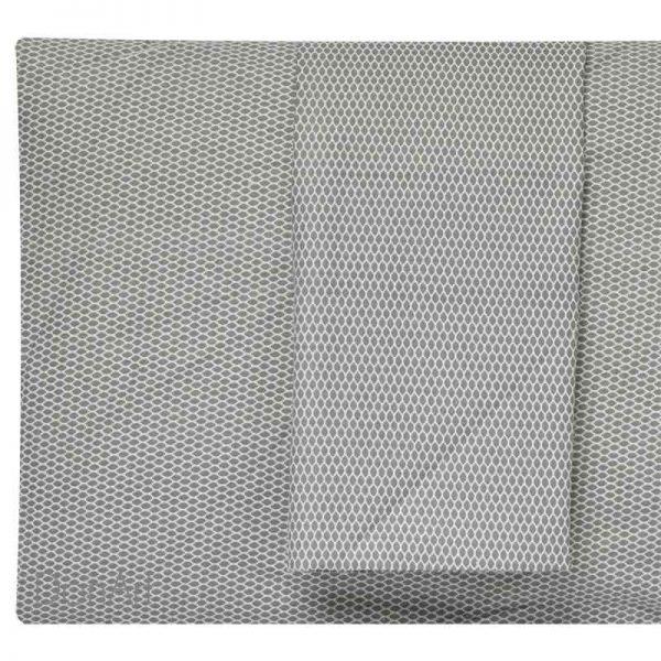 Lenzuola matrimoniali in flanella rete grigio federe
