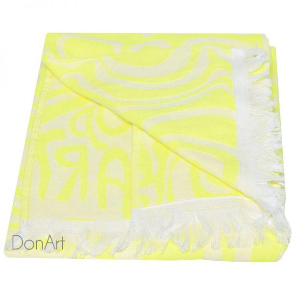 Telo mare bassetti op art giallo