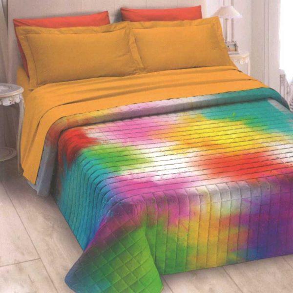 Trapuntino singolo multicolor ambientato