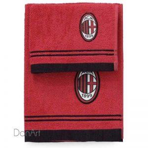 Coppia asciugamani a.c. milan