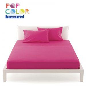 Lenzuola matrimoniali Bassetti pop color colore ciclamino