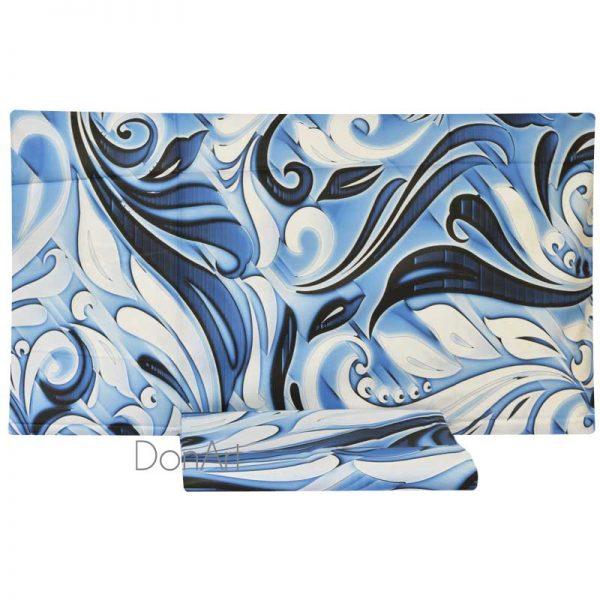 Copripiumino singolo decori blu ambientato
