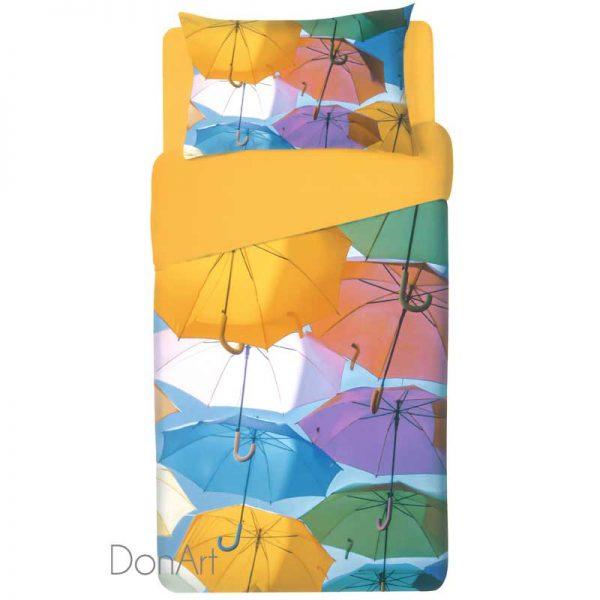 Lenzuola singole ombrelli ambientate